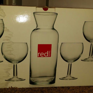 JcPenny Wine Glass set :(red)